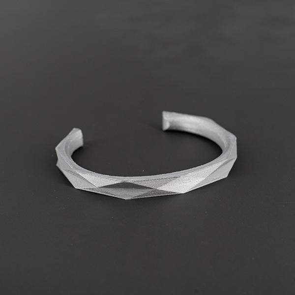 Bracciale da uomo argento motivo geometrico