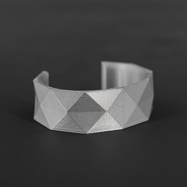 Bracciale donna motivo geometrico argento