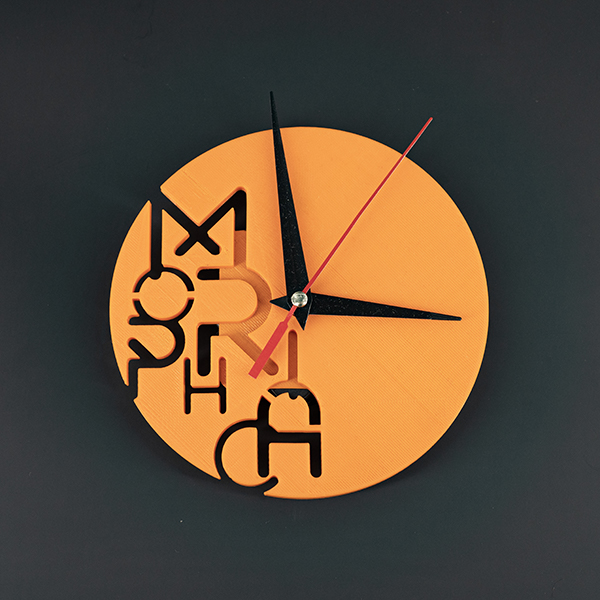 Orologio Morphica arancione