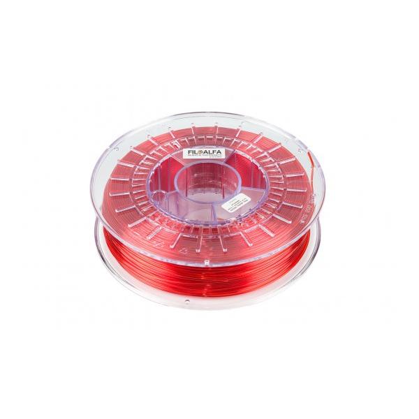 PETG - Rosso Trasparente - 700g - 1.75mm